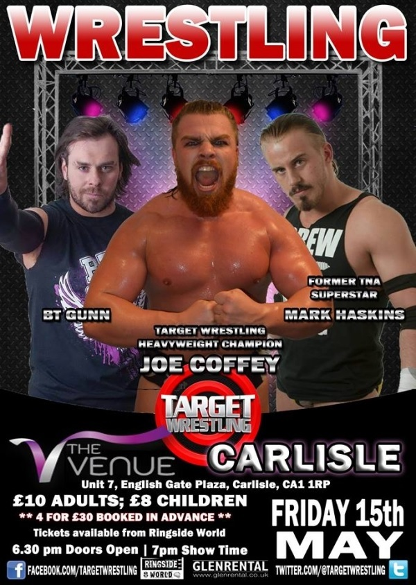FULL SHOW - Target Wrestling! The Venue Carlisle, MAY 2015!
