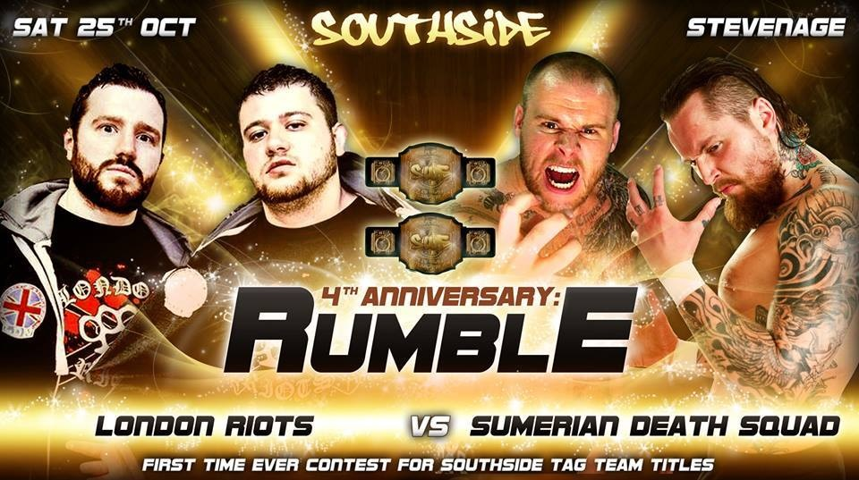 Southside Wrestling – The London Riots vs Sumerian Death Squad