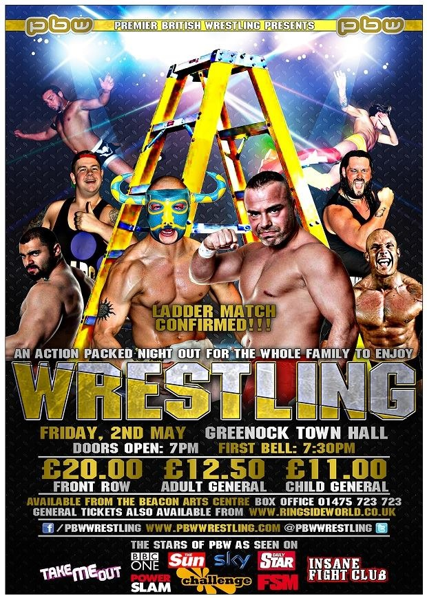 Premier British Wrestling - Breaking Limits 9 – PBW Championship Ladder Match – Liam Thomson vs El Ligero