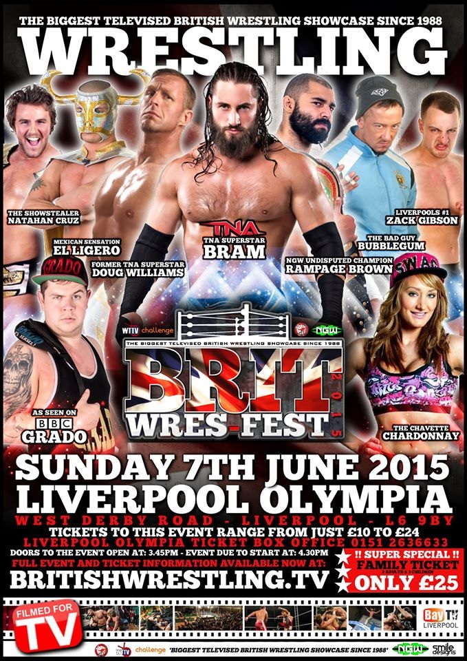 BritWres-Fest 2015 At The Liverpool Olympia on June 7th!