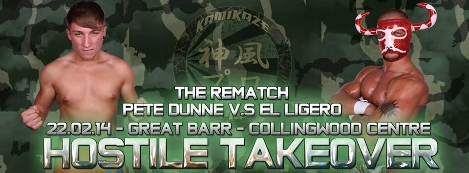 The 1st match for Kamikaze Pro - Hostile Takeover. The Rematch!