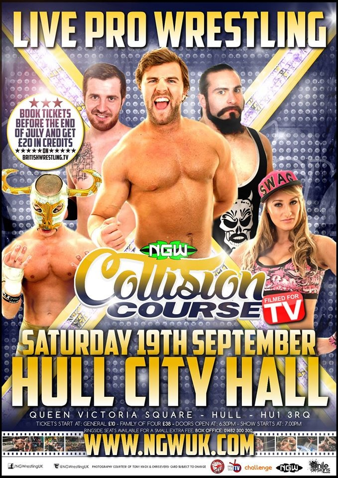 NGW returns to Hull City Hall on Saturday 19th September with Collision Course!