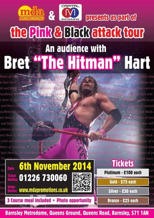 An audience with Bret ''The Hitman'' Hart  - Barnsley