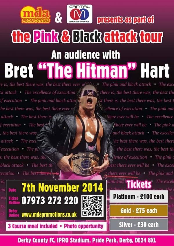 An audience with Bret ''The Hitman'' Hart - Derby