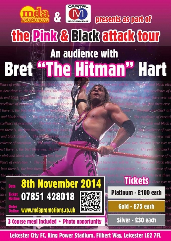 An audience with Bret ''The Hitman'' Hart - Leicester