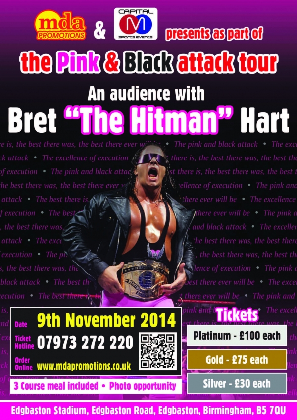 An audience with Bret ''The Hitman'' Hart - Birmingham