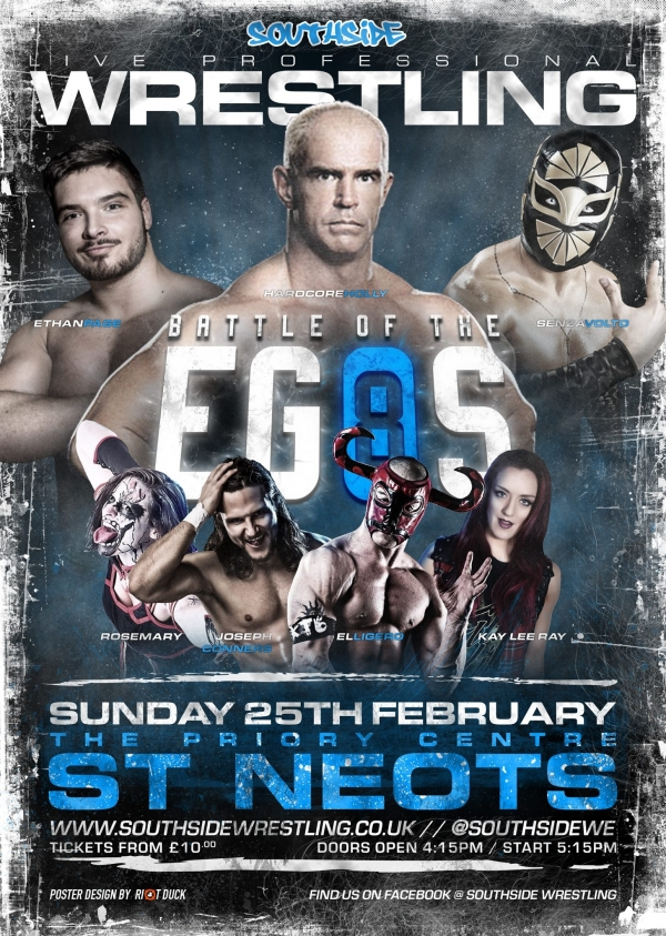 Southside Wrestling Presents Battle Of The Egos 8 taking place at Priory Centre