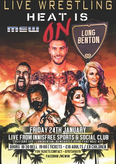 Main Event Wrestling Presents Heat Is On taking place at Innisfree Sports & Social Club